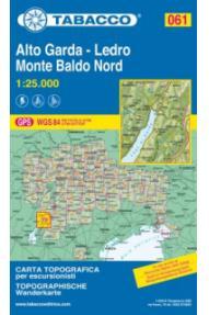 Map 061 Alto Garda-Ledro Monte Baldo Nord-Tabacco