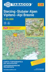 038 Vipiteno, Alpi Breonie, Sterzing, Stubaier Alpen- Tabacco