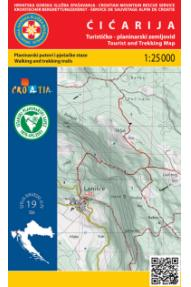Ćićarija 1:25.000 Map