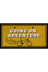 Going on adventure Bike Plate