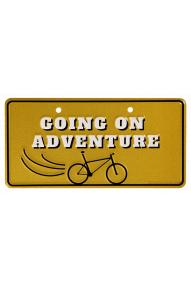 Targa per la bici Going on adventure