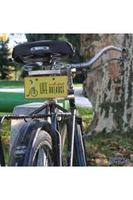 Targa per la bici  Life is all about balance