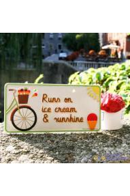 Targa per la bici  Runs on ice cream
