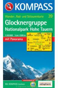 Kompass Wanderkarte Glocknergruppe 39 – 1:50.000