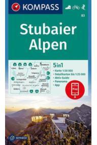 Kompass Wanderkarte Stubaier Alpen 83