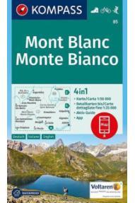 Mappa Kompass Mont Blanc 85- 1:50.000