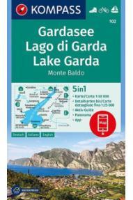 Kompass Wanderkarte Gardasee 102 – 1:50.000