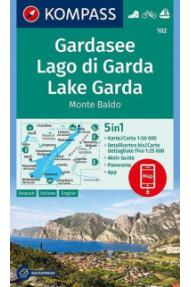 Mappa Kompass Lago di Garda 102- 1:50.000