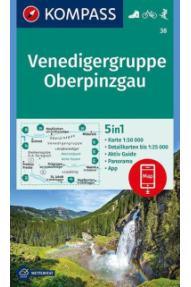 Kompass Wanderkarte Venedigergruppe, Oberpinzgau 38