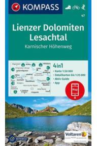 Landkarte Kompass Lienzer Dolomiten, Lesachtal 47
