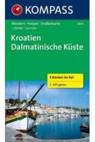 Landkarte Kompass Dalmatien 2900- 1:100.000