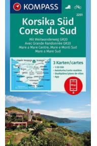 Kompass Corsica south 2251- 1:50.000