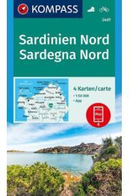 Kompass Wanderkarte Sardinien – Norden 2497 –  1:50.000