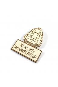Wooden badge Not all those who wander are lost