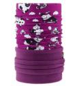 Kinder-Multifunktions-Kopfbedeckung 4Fun Polartec Funny Cow Viola