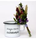 Emaille-Topf (0,37 l) Cuckoo Cups Draga mama zdaj razumem