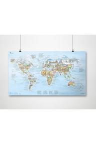 Hiking map of the world