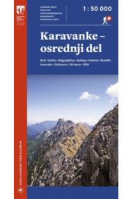 Map of Karavanke - Central - 1:50.000