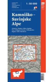 Map of Kamnik-Savinja Alps - 1:50.000