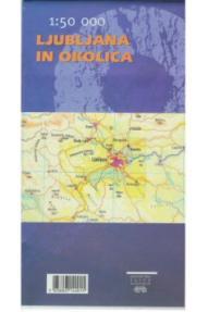 Mappa Ljubljana e d'intorni PZS - 1:50.000