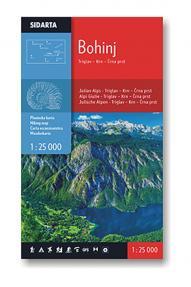 Mapa Bohinja 1:25000