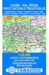 Mappa 027 Canin, Val Resia, Parco Naturale Prealpi Giulie -