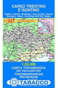 Map 047 Carso Triestino e Isontino - Tabacco