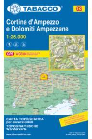 Mappa 03 Cortina d'Ampezzo e Dolomiti ampezzane - Tabacco