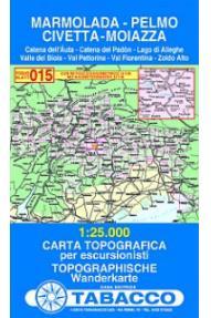 Mappa 015 Marmolada, Pelmo, Civetta, Moiazza - Tabacco
