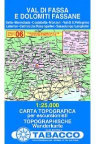 Mappa 06 Val di Fassa e Dolomiti Fassane - Tabacco