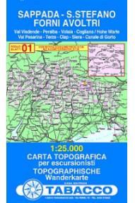 Map 01 Sappada, Santo Stefano, Forni Avoltri - Tabacco