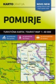 Zemljevid in vodič Pomurje - 1:40 000